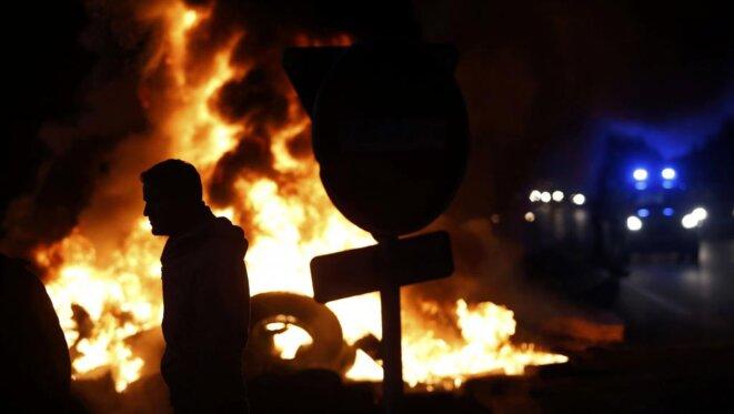 Incidents à Tinténiac, en Ille-et-Vilaine, fin janvier. © Reuters