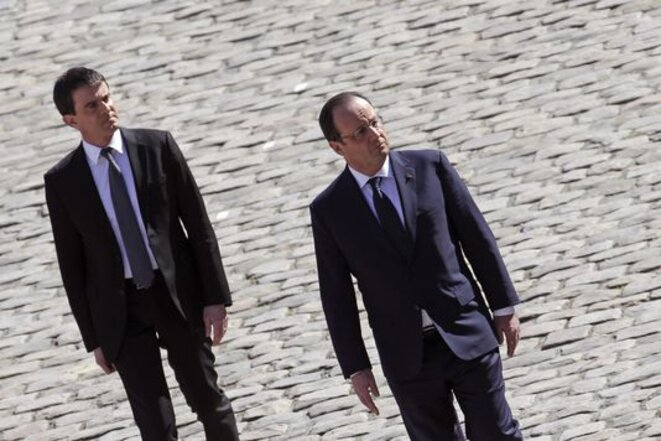 François Hollande et Manuel Valls le 15 avril 2014 © Reuters