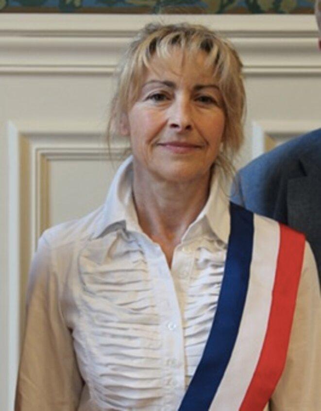 Dominique Garcia, avec son écharpe d'élue © DR