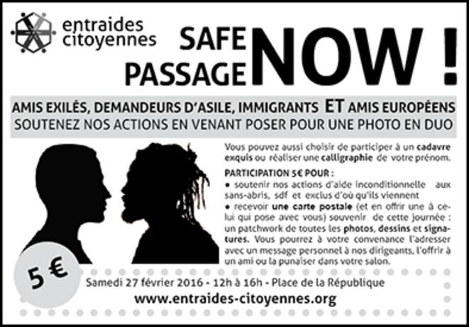 #safe passage-Marche pour les droits des réfugiés-Marche pour les droits des migrants © Entraides-Citoyennes