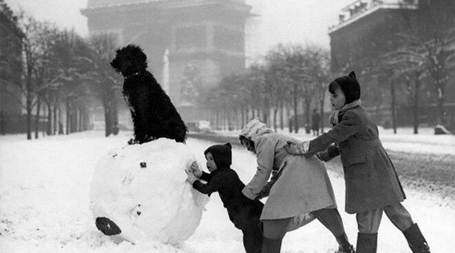 Paris sous la neige 1930 © dr (voir site Salut Paris)
