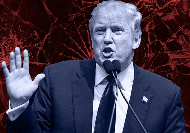Donald Trump fait voler en éclats la doxa du parti républicain. Photo et montage : © Thomas Cantaloube