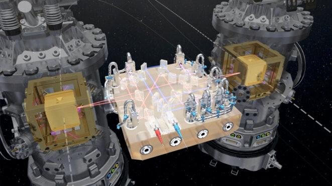 Les deux cubes de la mission Lisa Pathfinder © ESA