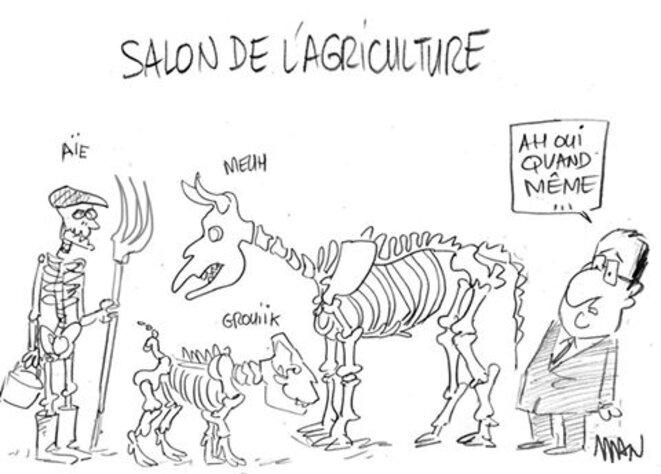Hollande au salon de l'agriculture © Man