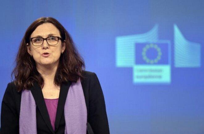 La commissaire au commerce Cecilia Malmström le 29 février à Bruxelles. ©CE.