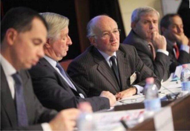 La direction de la Société générale au moment de l'affaire Kerviel. Au centre, son PDG d'alors, Daniel Bouton © Reuters