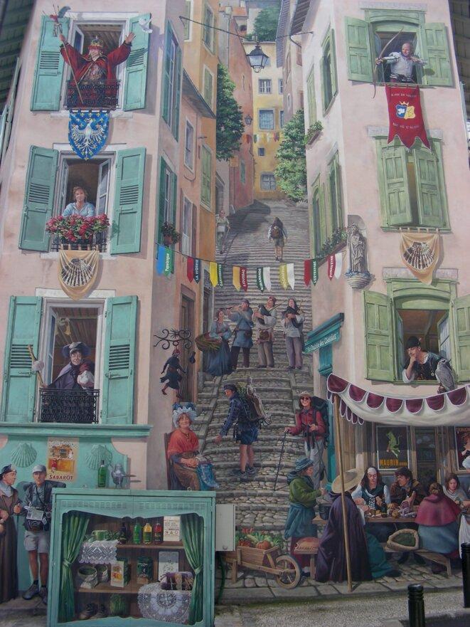 Trompe-l'oeil Le Puy-en-Velay [Photo YF]