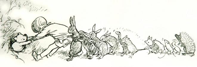 L'ourson créé par Alan Alexander Milne apparaît d'abord sous les traits vifs d'E. H. Shepard.