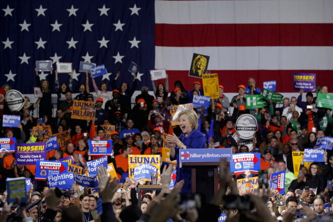 Hillary Clinton en meeting à New York le 2 mars 2015. © Reuters