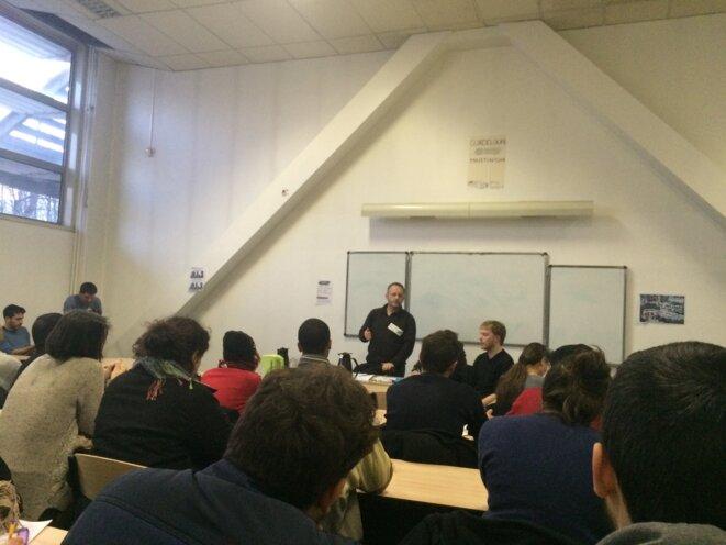 A la réunion publique de l'université Paris-VIII © FZ