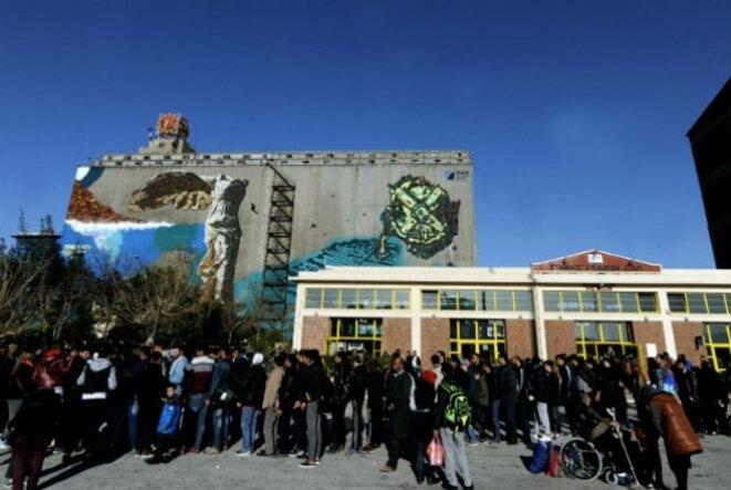 On estime que 3200 personnes se trouvent au Pirée. © Eurokinissi/Tatiana Bolari