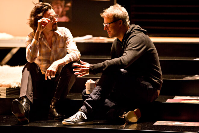 Stanislas Nordey et Falk Richter © Jean-Louis Fernandez