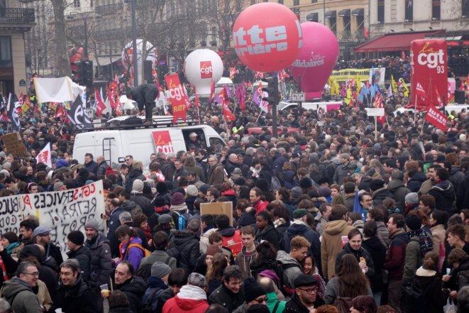 Place de la République, mercredi 9 mars © Rachida EL Azzouzi