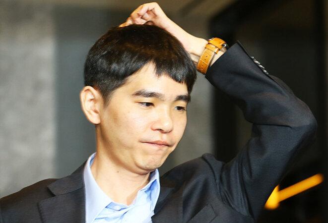 Lee Sedol après sa deuxième défaite, jeudi 10 mars © DR
