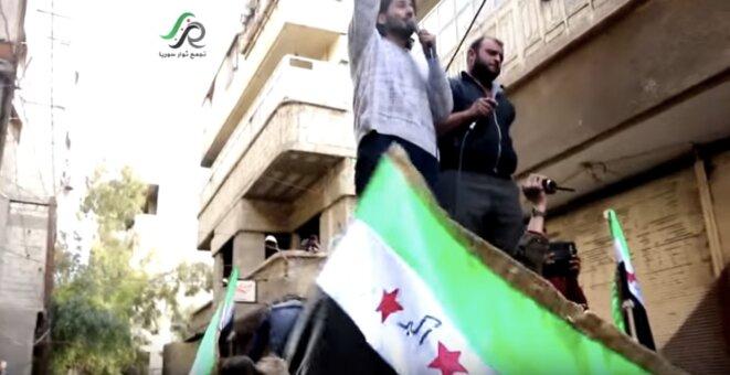 Manifestation, vendredi 4 mars, près de Damas. © DR