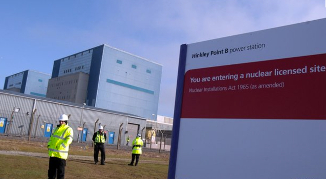 The Hinkley Point plant, in the English county of Somerset. © EDF