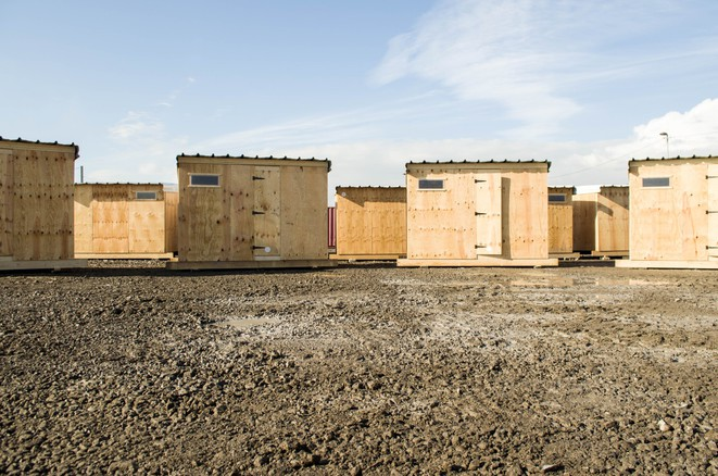 Le nouveau camp de Grande-Synthe construit par MSF © Paul Béjannin