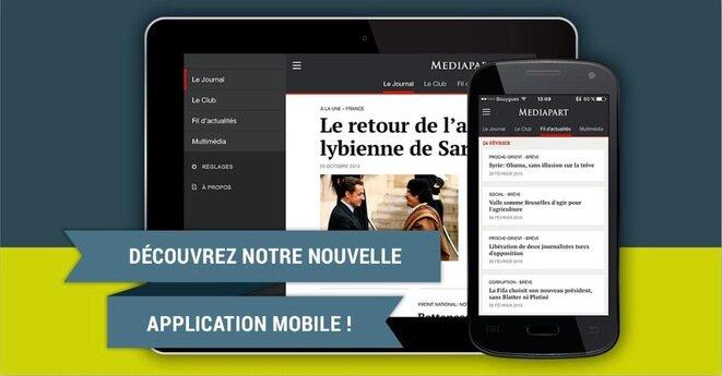 Nueva aplicación móvil de Mediapart.