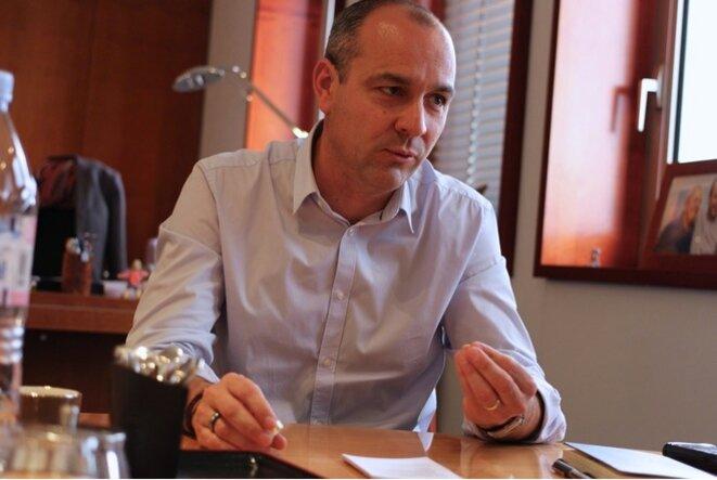 Laurent Berger, à la CFDT, en 2015. © Mathilde Goanec