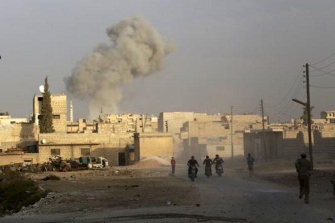 Bombardements russes dans la province d'Idlib. L'ASL reste une cible régulière des Russes. © Reuters