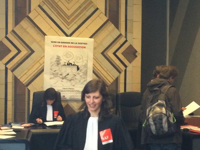Lundi 14 mars,au tribunal de Créteil. © MH
