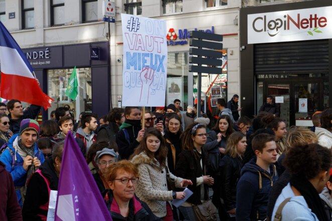 Manifestation contre la loi El Khomri, Lille le 17 mars 2016 © Jean-Pierre Meeschaert