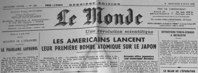 70 ans d'Hiroshima : Le Monde nous refait le coup de la ...