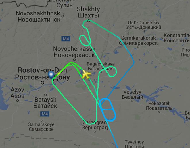 L'avion juste avant la dernière approche. Cliquez sur l'image pour le replay flightradar24