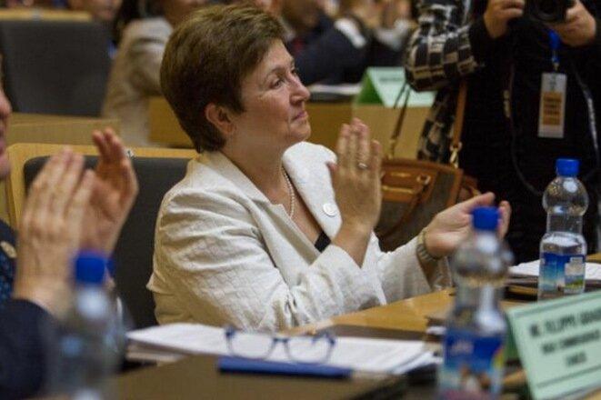 La búlgara Kristalina Georgieva, vicepresidenta de la Comisión Europea responsable del presupuesto, tendrá que pronunciarse sobre el futuro del acuerdo con Philip Morris. © EC