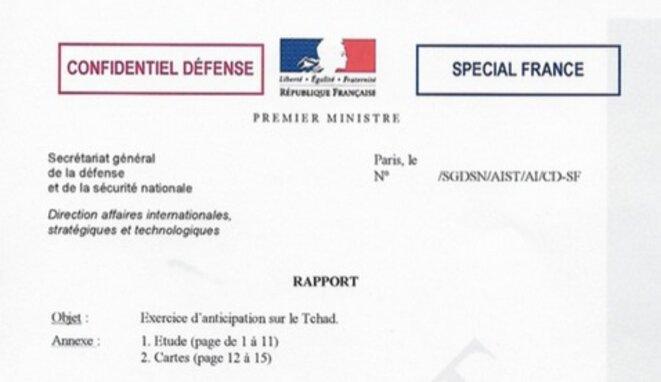 """Note classée """"confidentiel défense"""". © DR"""