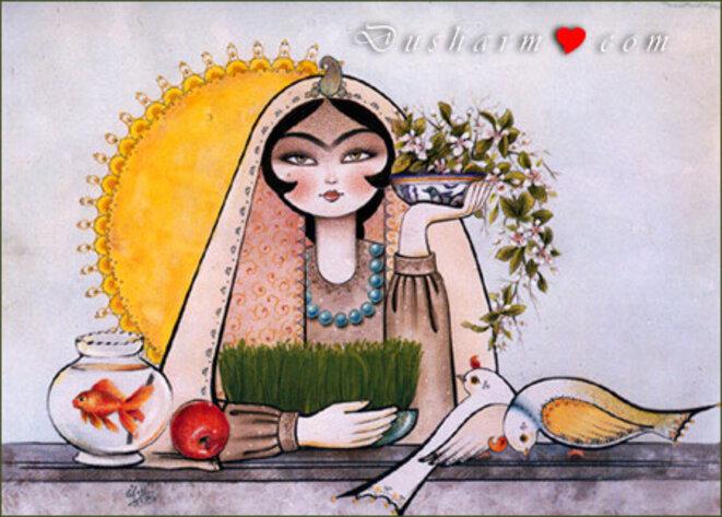 Les résistants iraniens ont célébré Norouz dans l'espérance © dusharm