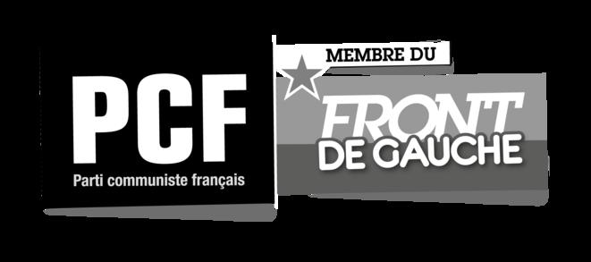 Logo officiel du PCF/Front de Gauche (version noir et blanc)