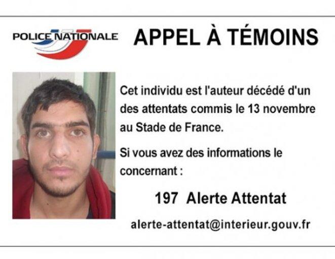 L'appel à témoin concernant Ahmad Al Mohammad.
