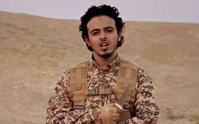 Bilal Hadfi. Image extraite d'une vidéo de l'Etat islamique.
