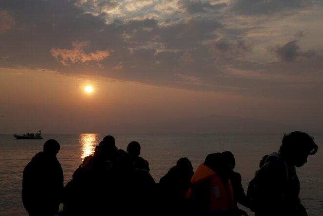 Deux jours après la signature de l'accord entre l'UE et la Turquie à Lesbos en Grèce. © Reuters