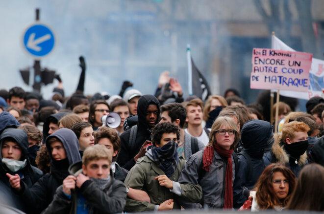 Dans la manifestation du 24 mars © reuters