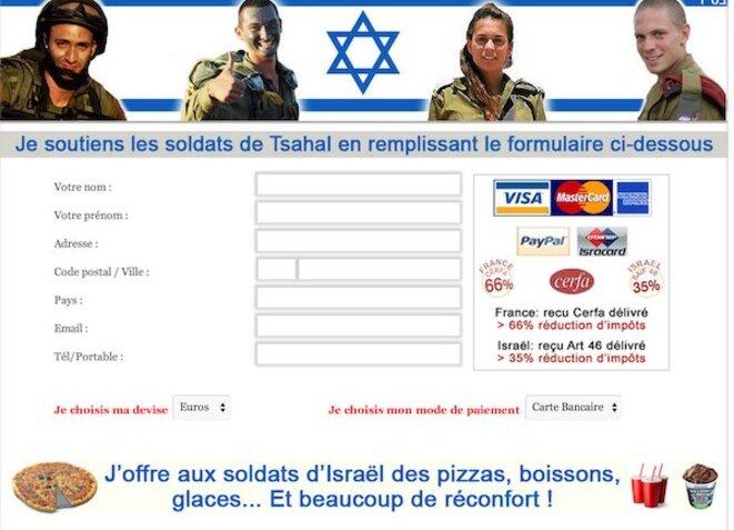Formulaire que l'on pouvait retrouver sur le site JSS NEWS (capture d'écran)
