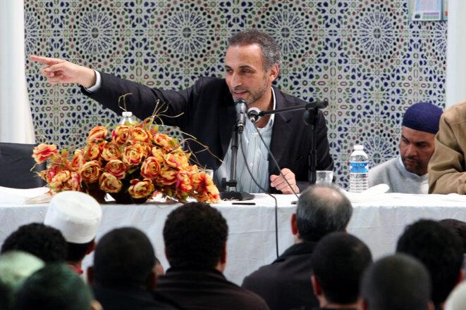 Tariq Ramadan, en 2010, à l'inauguration d'une mosquée de Nantes © Reuters