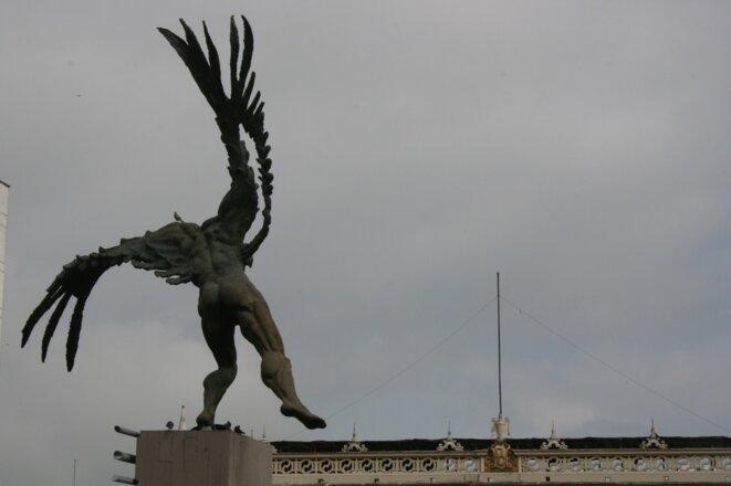 """Bolivar"", Manizales, sculpture de Rodrigo Arenas Betancur © Olga L Gonzalez"
