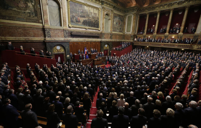 François Hollande au congrès à Versailles, le 16 novembre 2015 © Reuters