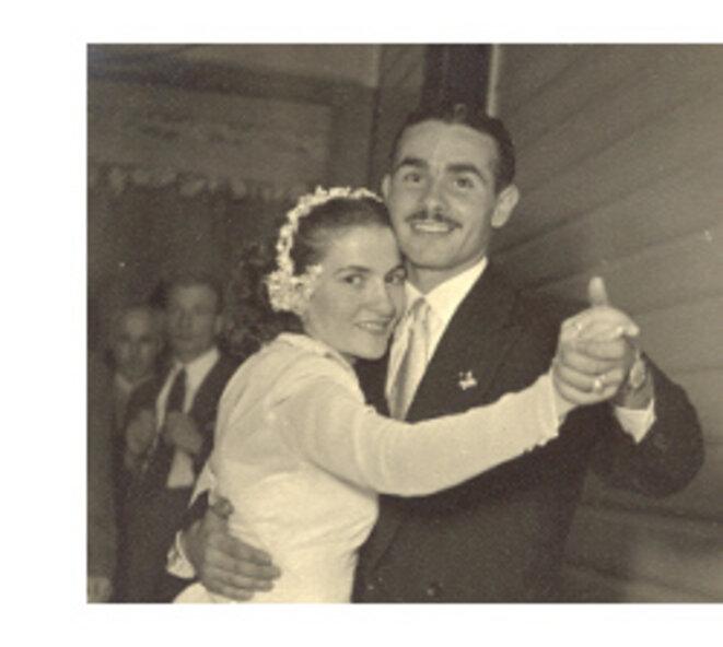 Jouir de la vie... Orlando Torrado et sa femme lors de leur mariage