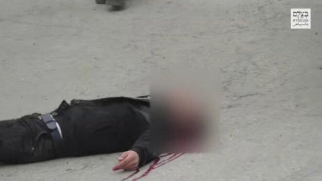 Image extraite d'une vidéo filmée par un militant des droits de l'homme. © B'Tselem