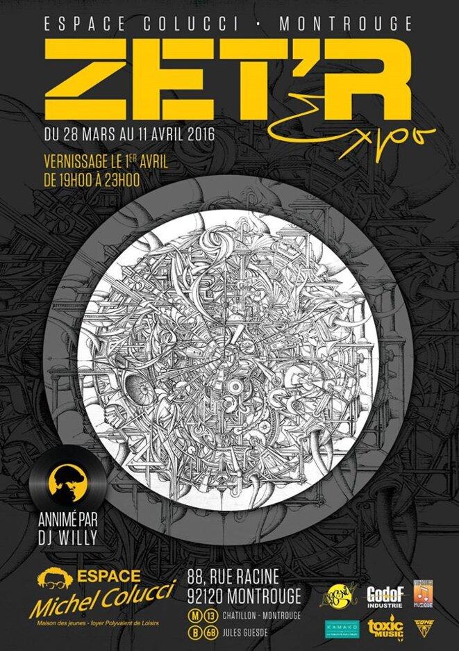 Expo ZET'R - Vernissage le vendredi 1er avril à 19h - Montrouge © © Zet'R