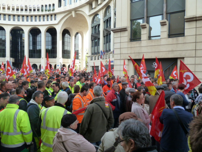 Un aperçu du rassemblement à Montpellier. © Jean Suignard