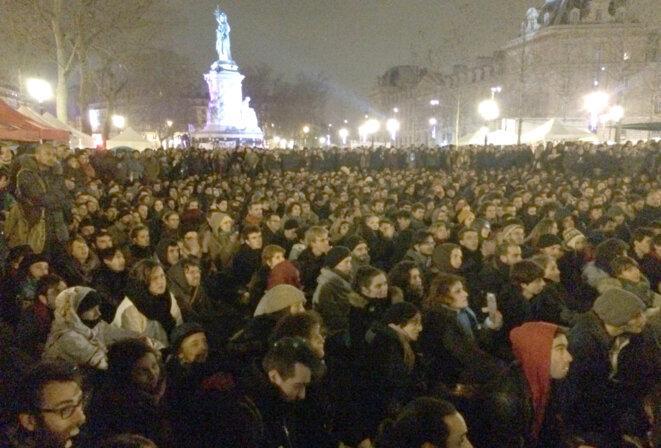 Jeudi 31 mars, place de la République à Paris © CG