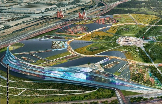 Vision of the future: how the planned EuropaCity will look.