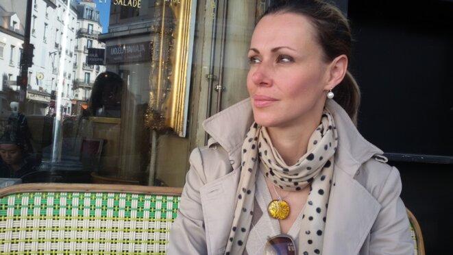 Nadejda Koutepova, à Paris, octobre 2015 © A.P.