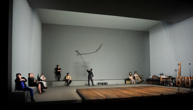 """""""La Mouette"""" début du spectacle © Arno Declair"""