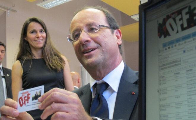 François Hollande, en compagnie d'Aurélie Filippetti, au Festival d'Avignon en 2011, un an avant son élection à la Présidence de la République
