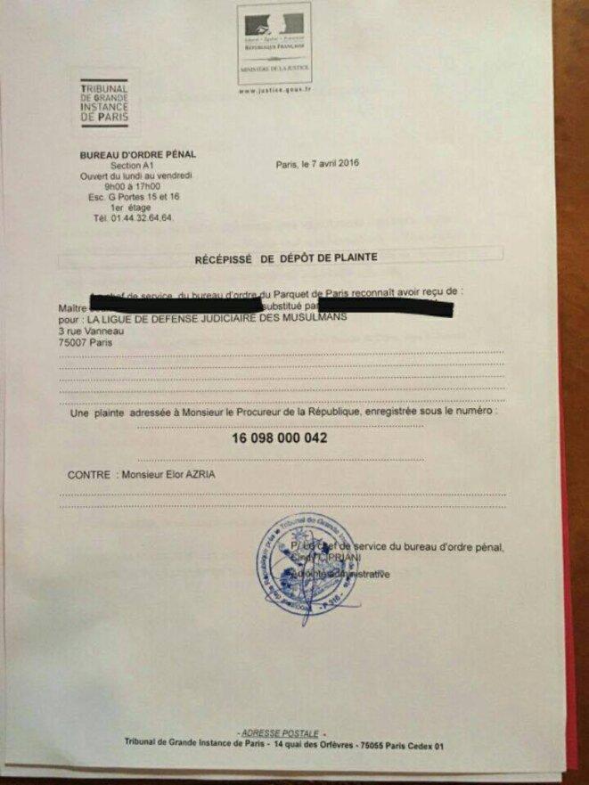 Plainte contre le franco-israélien Elor Azria © Maître Karim Achou